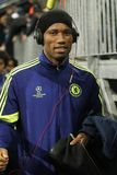 Didier Drogba FC Schalke v FC Chelsea 8eme Final Champion League Stock Photography