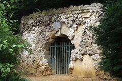 Dido's Cave at Stowe Landscape Gardens in  Buckingham, England Royalty Free Stock Photo