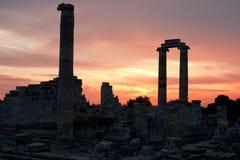 Didyma阿波罗寺庙在土耳其 免版税库存照片
