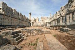 Didyma Apollo Temple, Turkije stock afbeelding