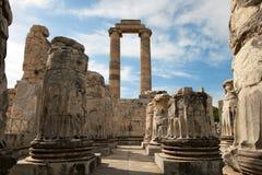 Didyma Apollo Temple, Turquia Fotografia de Stock
