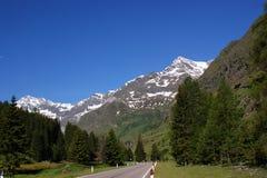 Die Ãtztal Alpen in Italien stockbilder