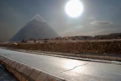 Die ägyptische Pyramide Lizenzfreie Stockbilder