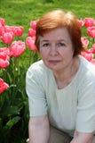 Die ältere Frau. Lizenzfreie Stockfotos