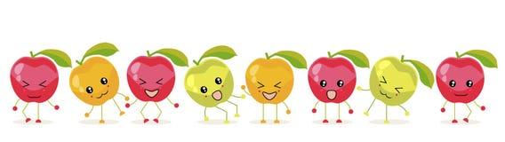 Die Äpfel rot vektor abbildung