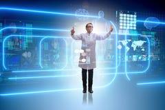 Die Ärztin in Fernmedizin mhealth Konzept Stockfotos