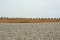 Die äußere Stadtmauer von Jiayuguan, China stockfotografie