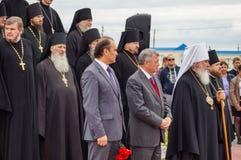 Die Öffnungsereignisse zu Ehren des Tages der Befreiung des Th 536 von Russland vom Mongole-tatarischen Joch in der Kaluga-Region Stockfotos