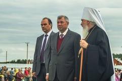 Die Öffnungsereignisse zu Ehren des Tages der Befreiung des Th 536 von Russland vom Mongole-tatarischen Joch in der Kaluga-Region Stockfotografie