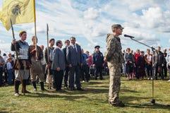 Die Öffnungsereignisse zu Ehren des Tages der Befreiung des Th 536 von Russland vom Mongole-tatarischen Joch in der Kaluga-Region Lizenzfreie Stockfotos