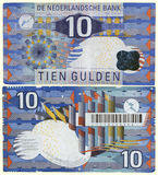 Die überholten Niederlande 1997 10 Gulden Stockfotos