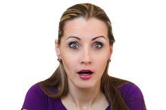Die überraschte Frau Lizenzfreie Stockfotos