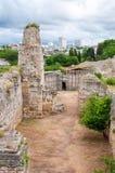 Die Überreste der alten Stadt von Chersonesus Gegründet durch die Altgriechischen Hersones-Ruinen, archäologischer Park Stockfotografie