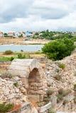 Die Überreste der alten Stadt von Chersonesus Gegründet durch die Altgriechischen Hersones-Ruinen, archäologischer Park Lizenzfreie Stockfotografie