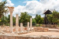 Die Überreste der alten Stadt von Chersonesus Gegründet durch die Altgriechischen Hersones-Ruinen, archäologischer Park Stockbild