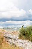 Die Überreste der alten Stadt von Chersonesus Gegründet durch die Altgriechischen Hersones-Ruinen, archäologischer Park Lizenzfreie Stockfotos