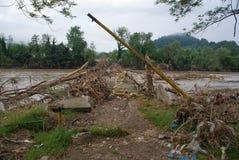 Die Überreste der Brücke stockfotos