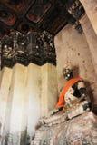 Die Überreste des großen Buddhas Stockfotos