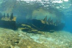 Die Überreste des Lara-Schiffswracks Stockbild