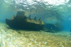Die Überreste des Lara-Schiffswracks Stockfotos