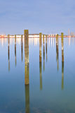 Die Überreste des Piers stockbilder