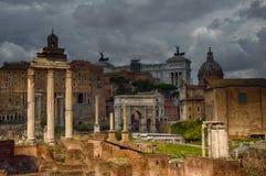 Die Überreste des Tempels der Gießmaschine und des Pollux Stockfoto