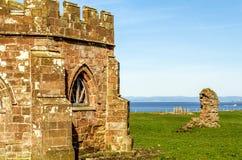 Die Überreste von Cockersand-Abtei nahe Lancaster Lizenzfreie Stockbilder