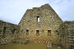 Die Überreste von Inca Architecture in Zitadelle Machu Picchu, UNESCO-Welterbarchäologische Fundstätte in Cusco-Region, Peru stockbild