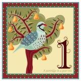 Die 12 Tage von Weihnachten lizenzfreie abbildung