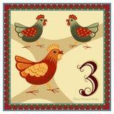 Die 12 Tage von Weihnachten Lizenzfreies Stockbild