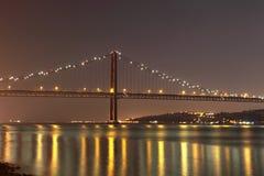 Die 25 de Abril Bridge, Lissabon Lizenzfreie Stockfotografie