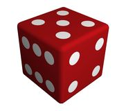 Die. Illustration of a large red die Stock Photos