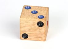Die. An isolated photo of a playing die royalty free stock images