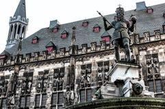 Die Aachen-Kathedrale, auch hohe Aachen-Kathedrale, Deutschland Lizenzfreie Stockfotos