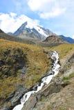 Die Abbildung wird im frühen Herbst in den Bergen polar gebildet Stockfotos