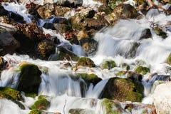 Die Abbildung wird im frühen Herbst in den Bergen polar gebildet Stockbilder