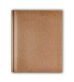 die Abdeckung, die im altem Stil ist, bereiten das braune Notizbuch auf, das auf weißem backgro lokalisiert wird Lizenzfreie Stockfotografie