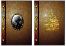 Die Abdeckung eines alten Buches. 02 Lizenzfreies Stockfoto