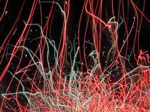 Die Abdrücke der Feuerwerke Stockfotografie