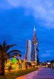 Die Abendpromenade von Batumi Lizenzfreie Stockfotografie