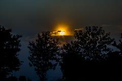Die Abendsonne Stockfotos