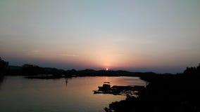 Die Abendsonne lizenzfreie stockfotos