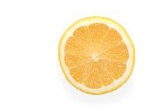 Die abgeschnittene gelbe Zitrone Lizenzfreies Stockfoto