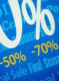 Die abschließenden Verkaufspreise im Speicher Lizenzfreie Stockbilder