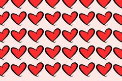 Die abstrakte gezeichnete Begriffshand lieben für Valentinstag, Feiern oder Jahrestag Hintergrund, Details, Entwurf u. Netz lizenzfreie abbildung