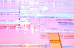 Die abstrakte Illustration des transparenten farbigen Glases stock abbildung