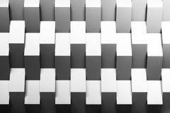 Die abstrakte Szene der Geometriewand Stockfoto