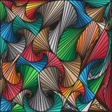 Die abstrakten bunten gezeichneten Linien kopiert Hintergrund, Vektordesign Stockfotos