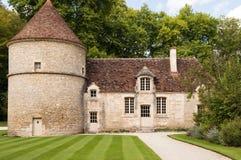 Die Abtei bei Fontenay Stockbild