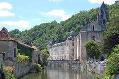 Die Abtei von Brantome, Dordogne Stockfotografie